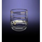 "D29-808 Набор 6 стаканов 310 мл для виски ""Эдем""  с рисунком ""Змейка"""